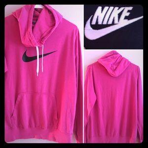 Super Hot Pink Nike Pullover Sweatshirt, Size XL